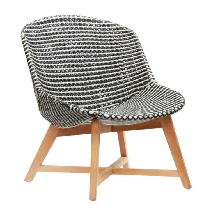 SKAL LOUNGE CHAIR / BLACK + WHITE (INDOOR-OUTDOOR)