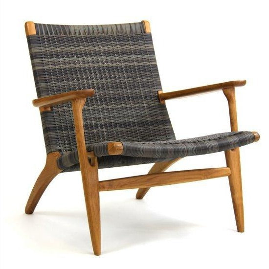 ROXANNE LOUNGE CHAIR / IRISH COFFEE+TEAK (INDOOR-OUTDOOR)