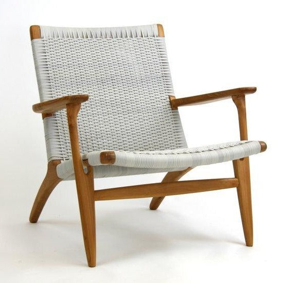 ROXANNE LOUNGE CHAIR / WHITE WASH+TEAK (INDOOR-OUTDOOR)