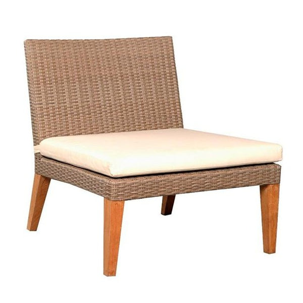 ITHAKA ARMLESS LOUNGE CHAIR / LINEN + NATURAL (INDOOR-OUTDOOR)