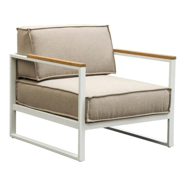VELA LOUNGE CHAIR / WHITE (INDOOR-OUTDOOR)