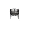 KIANA LOUNGE CHAIR / BLACK (INDOOR-OUTDOOR)