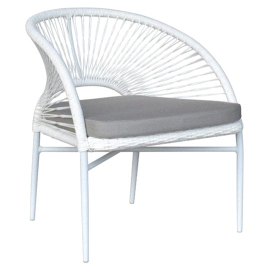 KIANA LOUNGE CHAIR / WHITE (INDOOR-OUTDOOR)