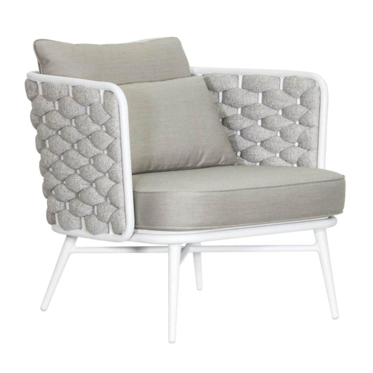 TORIN LOUNGE CHAIR / WHITE-DOVE (INDOOR-OUTDOOR)