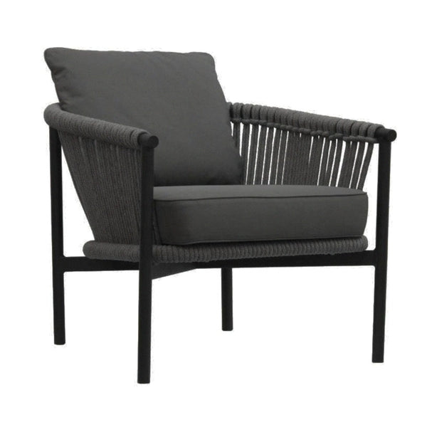 CATALAN LOUNGE CHAIR / GRANIT - DARK GREY - BLACK (INDOOR-OUTDOOR)