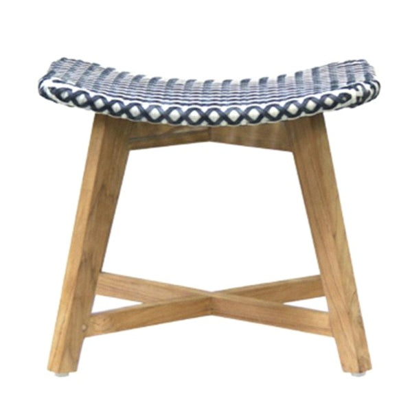 SKAL LOW STOOL / BLACK + WHITE (INDOOR-OUTDOOR)