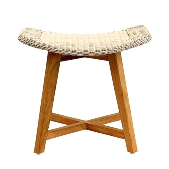 SKAL LOW STOOL / WHITEWASH (INDOOR-OUTDOOR)