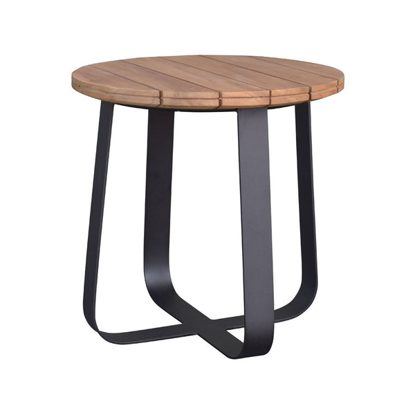 DENA SIDE TABLE / BLACK-NATURAL (INDOOR-OUTDOOR)