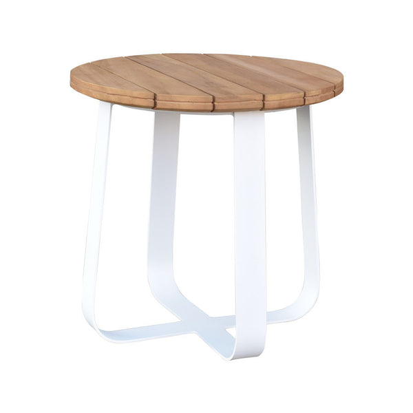 DENA SIDE TABLE / WHITE-NATURAL (INDOOR-OUTDOOR)