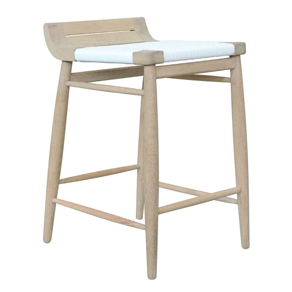 ABING BAR STOOL / WHITE WEAVE