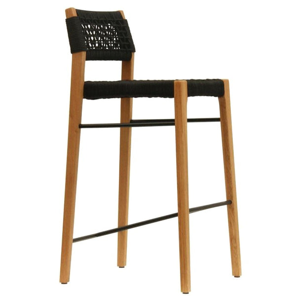 NORFOLK BAR STOOL / BLACK ROPE