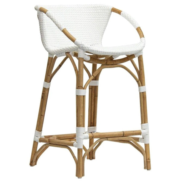 TIDE BARSTOOL / WHITE + NATURAL