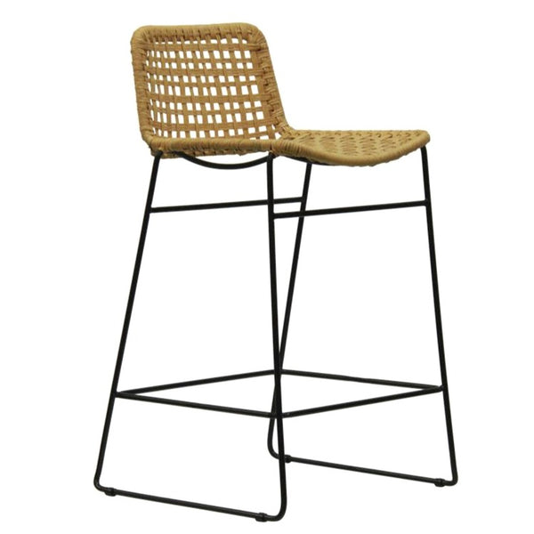 BELLA LOOM KITCHEN STOOL / BLACK FRAME