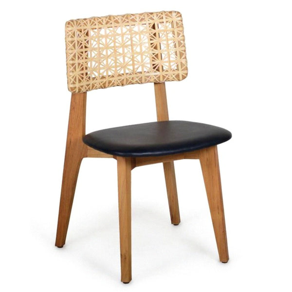 QUEBEC DINING CHAIR / WOVEN RATTAN + OAK