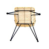 ANNA ARMCHAIR / NATURAL + BLACK