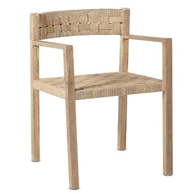 LOGAN WEAVE CHAIR / NATURAL RECYCLED TEAK + RATTAN