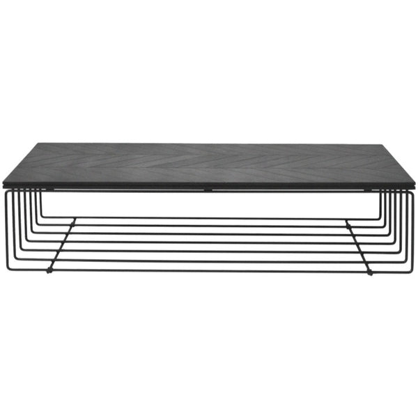 ATHENA COFFEE TABLE / CHARCOAL OAK + METAL