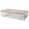 ATHENA COFFEE TABLE / LIGHT OAK + METAL