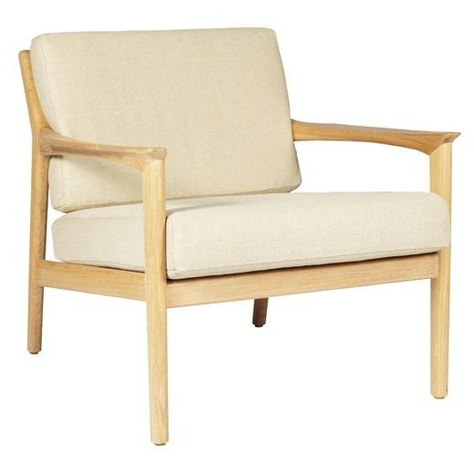 AMERICANA LOUNGE CHAIR / NATURAL LINEN + OAK