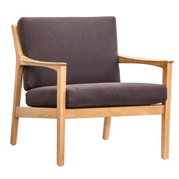 AMERICANA LOUNGE CHAIR / COFFEE BEAN LINEN + OAK