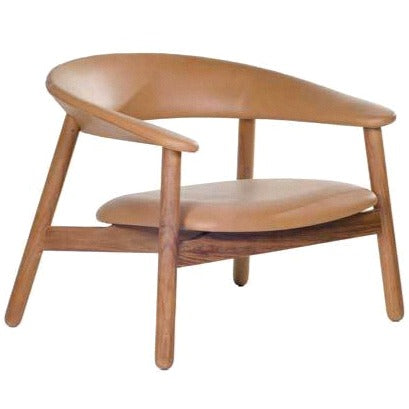 BOOMERANG LOUNGE CHAIR / TAN