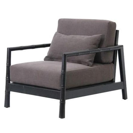BAMBOO LOUNGE CHAIR / CHARCOAL OAK