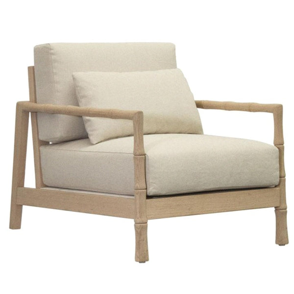BAMBOO LOUNGE CHAIR / BLOND OAK