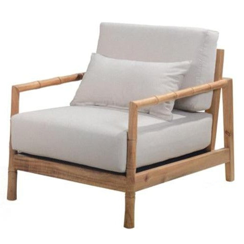 BAMBOO LOUNGE CHAIR / NATURAL OAK