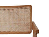 ARISTON LOUNGE CHAIR / NATURAL RATTAN + OAK