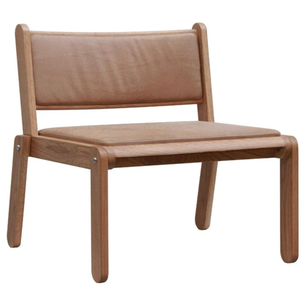 FLATSTACK EASY CHAIR / LEATHER + MAHOGANY