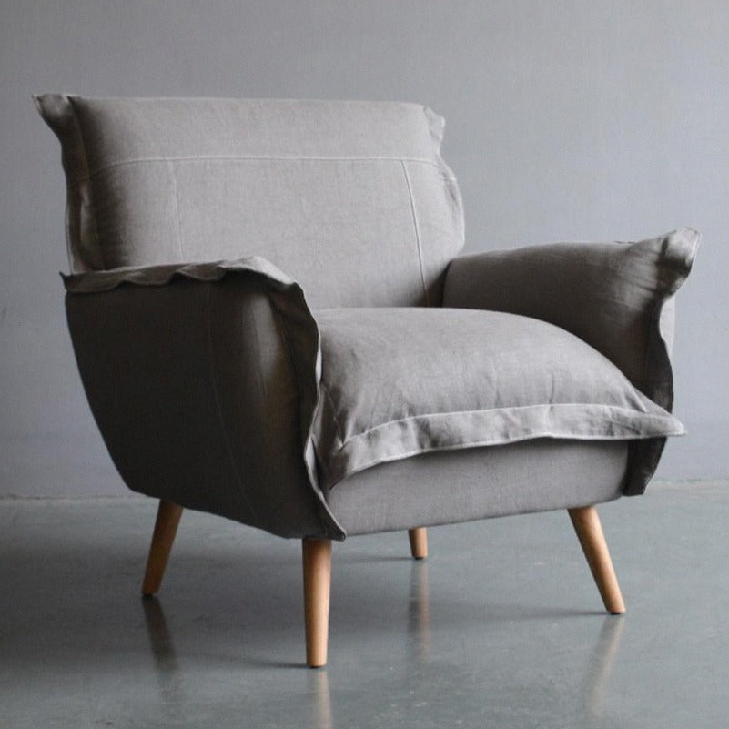 CHARLOTTE LOUNGE CHAIR / DOVE GREY