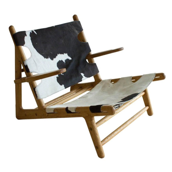 COW HIDE LOUNGE CHAIR