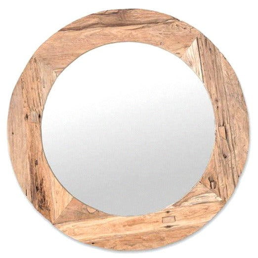 RUSTIC OVERSIZED WALL MIRROR / NATURAL