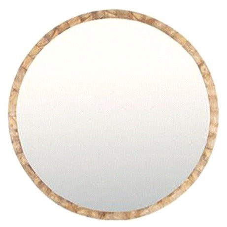LUCAS ROUND WALL MIRROR / NATURAL