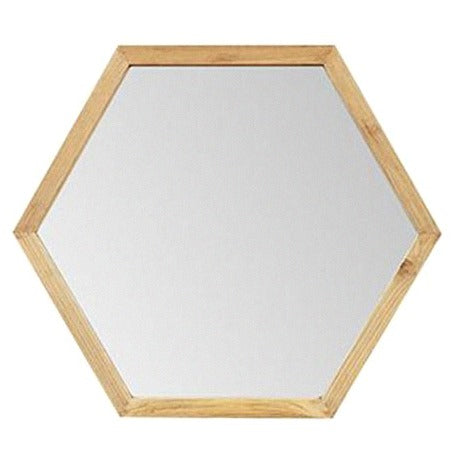 LUCAS HEX WALL MIRROR / NATURAL