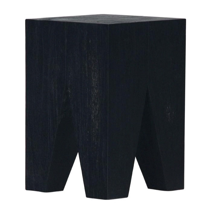 LOGAN STOOL + SIDE TABLE  / BLACK