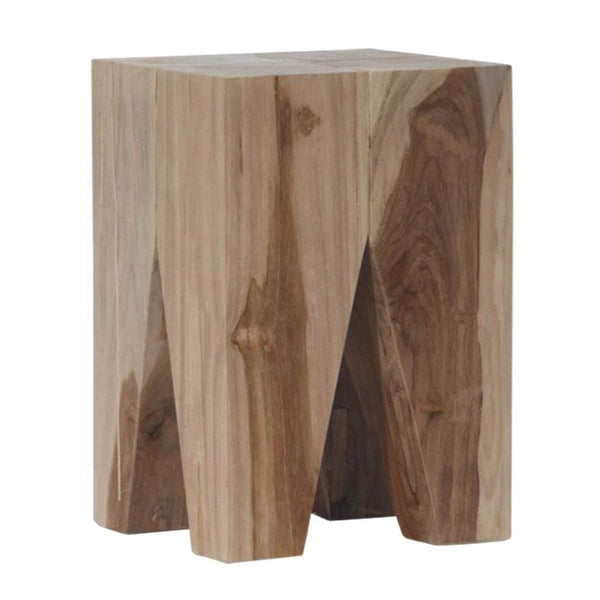 LOGAN STOOL + SIDE TABLE  / NATURAL