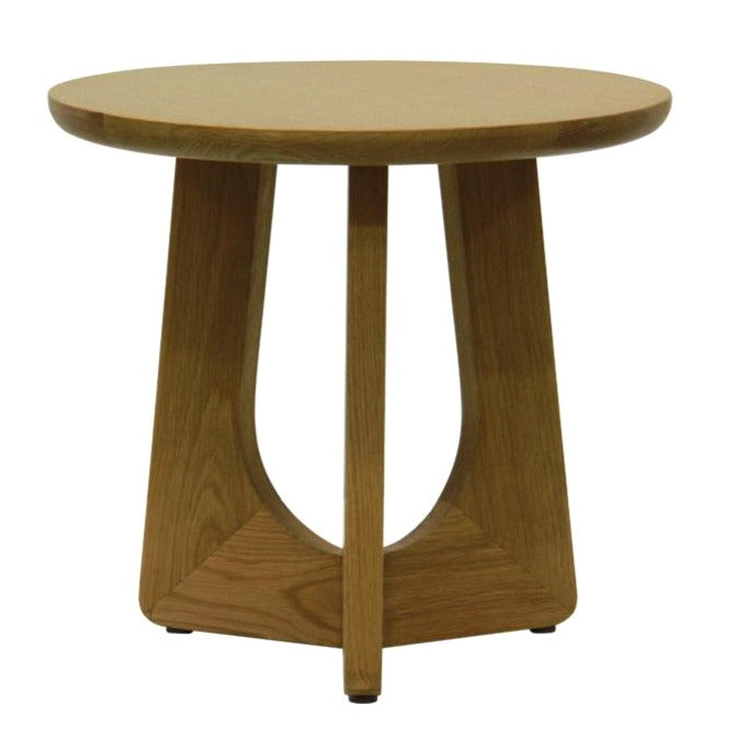 LACHY SIDE TABLE / NATURAL OAK
