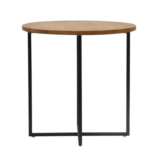 ELLIS SIDE TABLE / OAK - BLACK FRAME