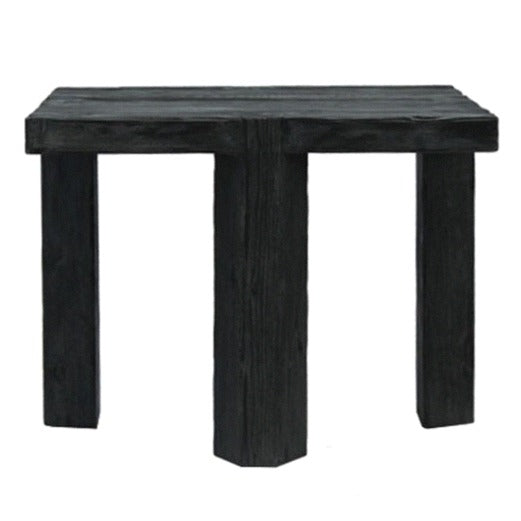DOVE TAIL SIDE TABLE / RUSTIC BLACK ELM
