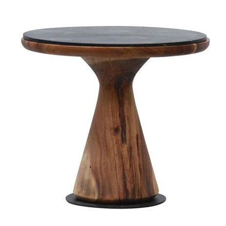 CASA SIDE TABLE MEDIUM / BLACK MARBLE TOP