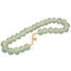 HANDCRAFTED GLASS BEADS NECKLACE + STAND / JADE