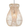 Indah Rattan Pendant Light / White