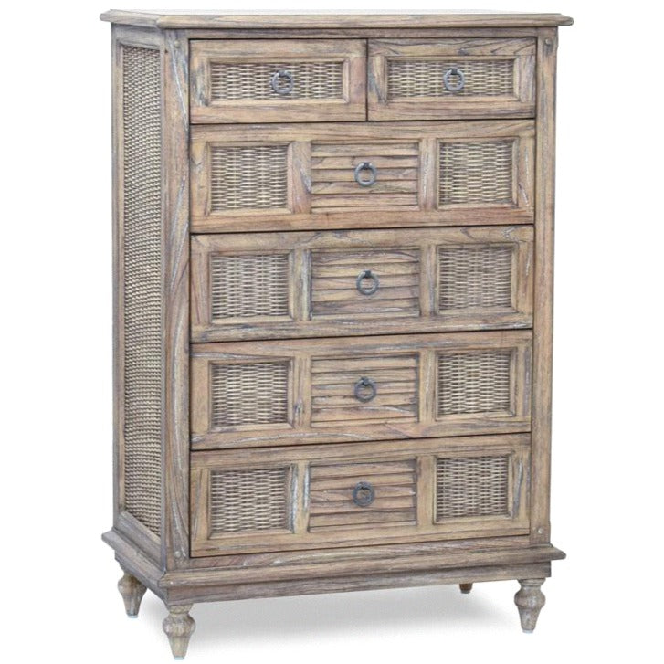 KEY WEST 6-DRAWER CHEST / WEATHERED PLANK