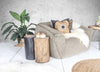 Log Side Table + Stool | Natural