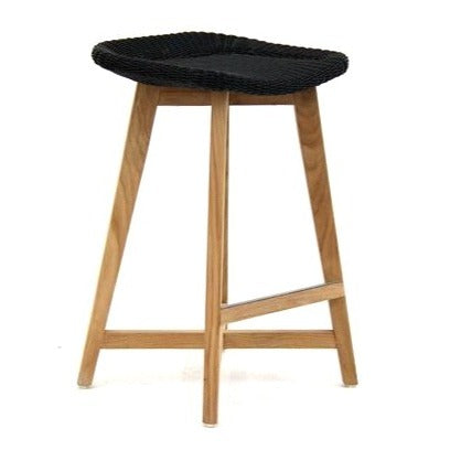 SKAL BACKLESS BAR STOOL - 2 SIZES / BLACK (INDOOR-OUTDOOR)