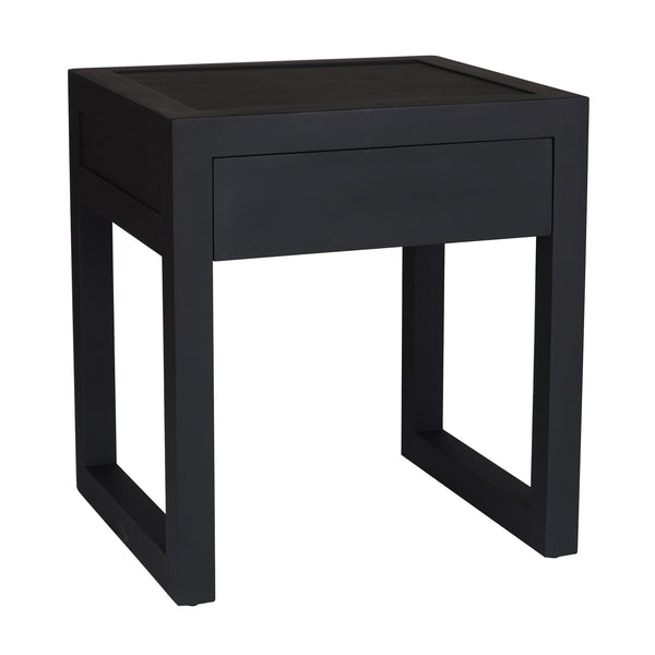 Strand Pedestal (Bed)Side Table | Black