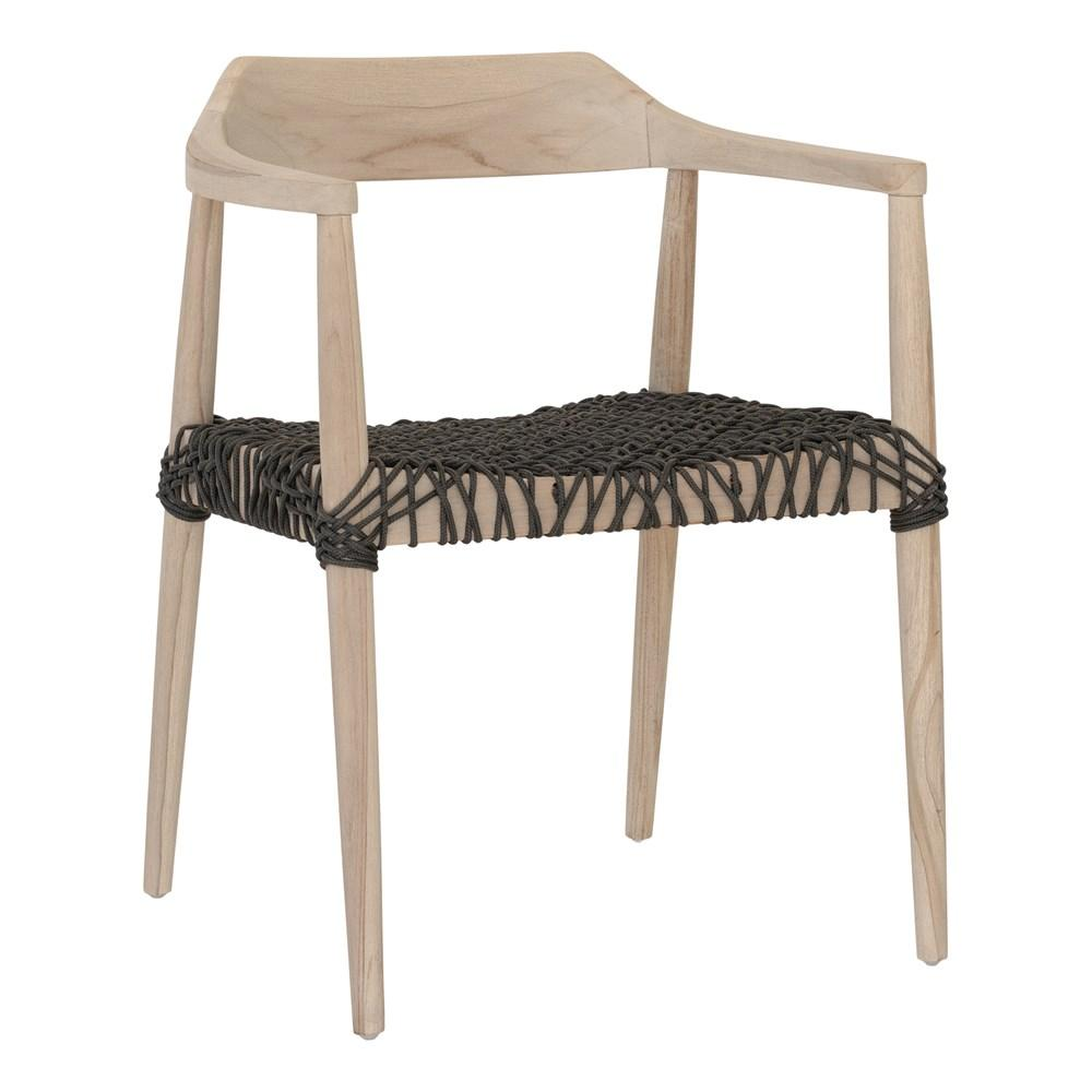 Sweni Horn Rope Armchair / Charcoal