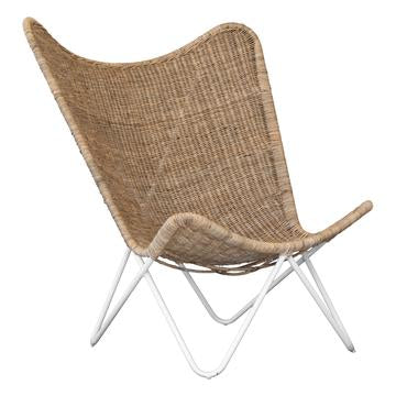TOBBAGO BUTTERFLY CHAIR | NATURAL + WHITE