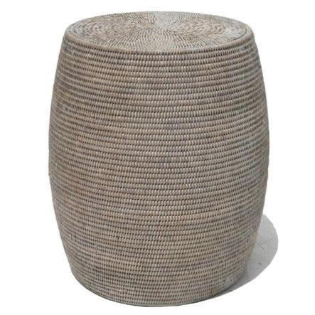 DRUM RATTAN STOOL + SIDE TABLE / 3 COLORS